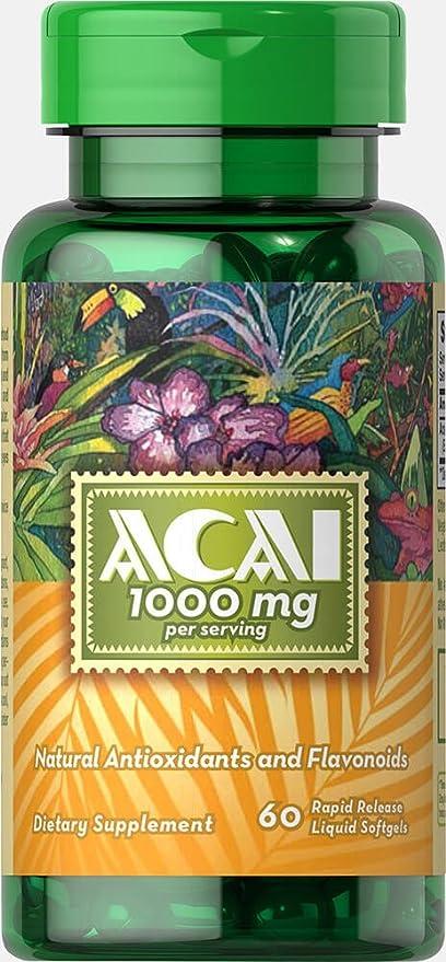 Puritans Pride ACAI 1000 mg 60 cápsulas (2): Amazon.es ...