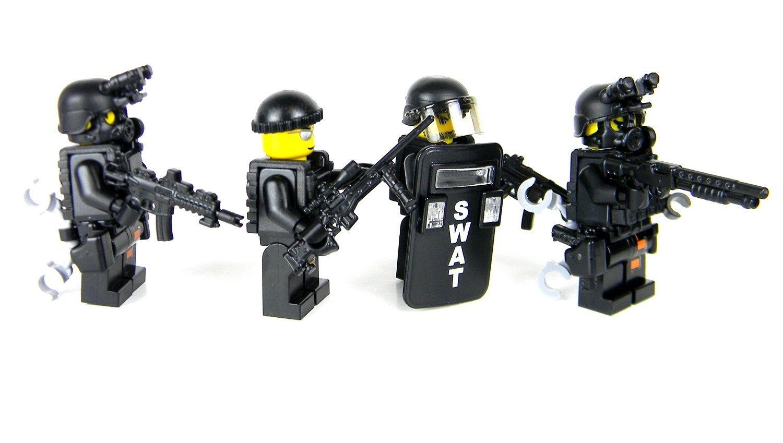 amazon com police swat team value sku54 battle brick custom