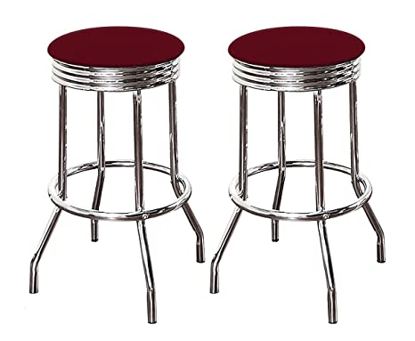 Astounding Amazon Com The Furniture Cove Bar Stool Set With 2 24 Tall Inzonedesignstudio Interior Chair Design Inzonedesignstudiocom