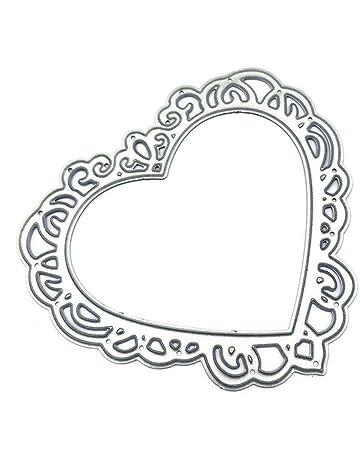Yunhigh Troqueles Scrapbooking Amor Forma de corazón Molde Acero al Carbono Cortador de Repujado Muere Artesanía