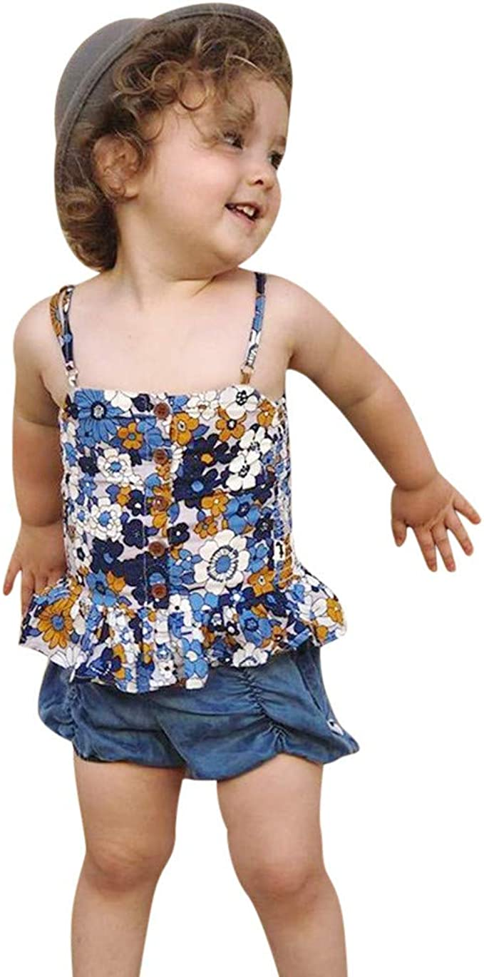 Hstore Children Sleeveless Ruffle Print Bikini Kids Girls Beach One Piece Swimsuit