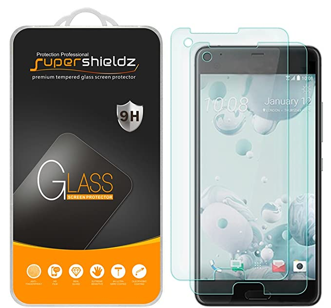 official photos 424a8 c3e6f (2 Pack) Supershieldz for HTC U Ultra Tempered Glass Screen Protector, Anti  Scratch, Bubble Free