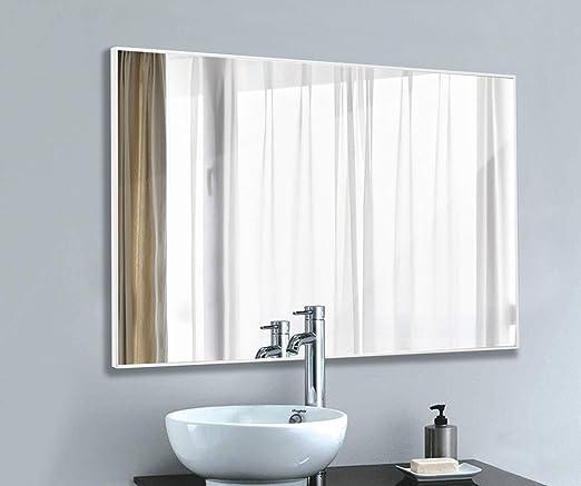 Amazon Com Leve Bathroom Mirror White Frame Mirror Modern Wall
