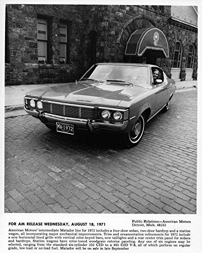 1972 Amc Matador Automobile Photo Poster