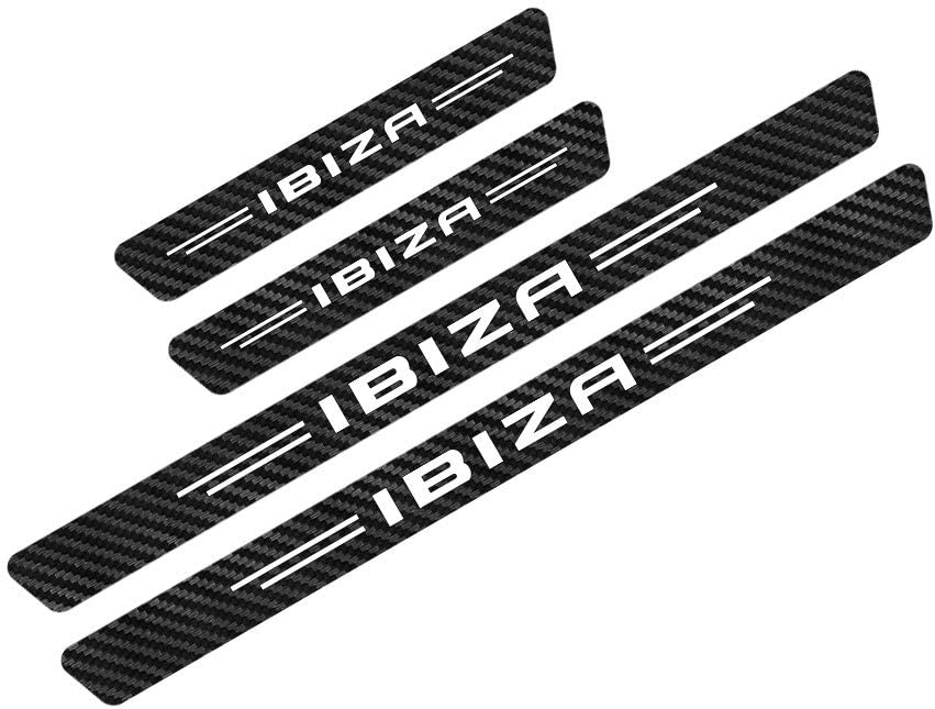 Resistente A Rayones,Protector de Umbral de Puerta de Coche de Fibra de Carbono interslife 4pcs Pegatinas Engomada del Umbral del Coche para Seat Ibiza Accesorios de Umbral