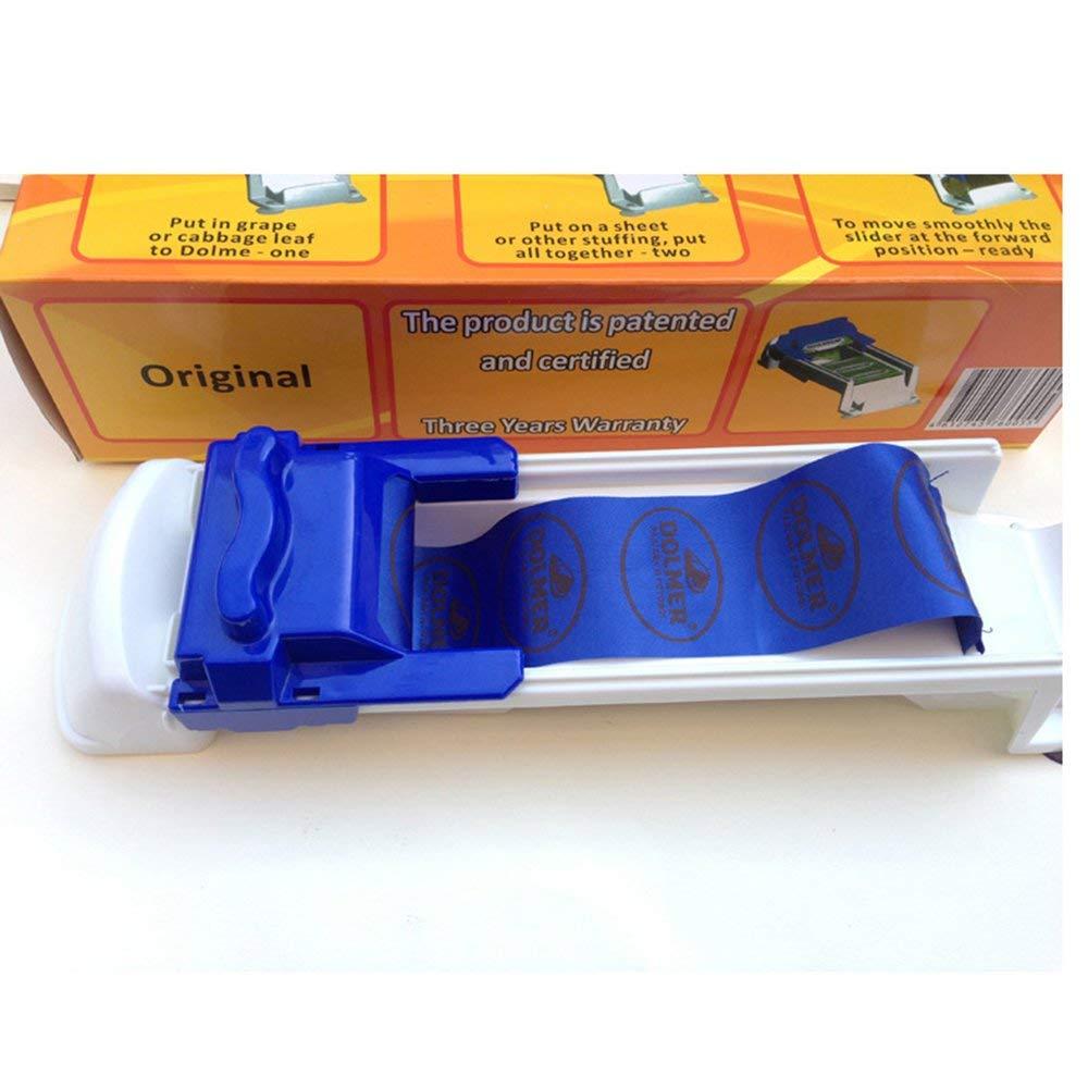 Vegetable Meat Rolling Tool Sushi Maker Innovative Kitchen Roller Machine White/&Blue