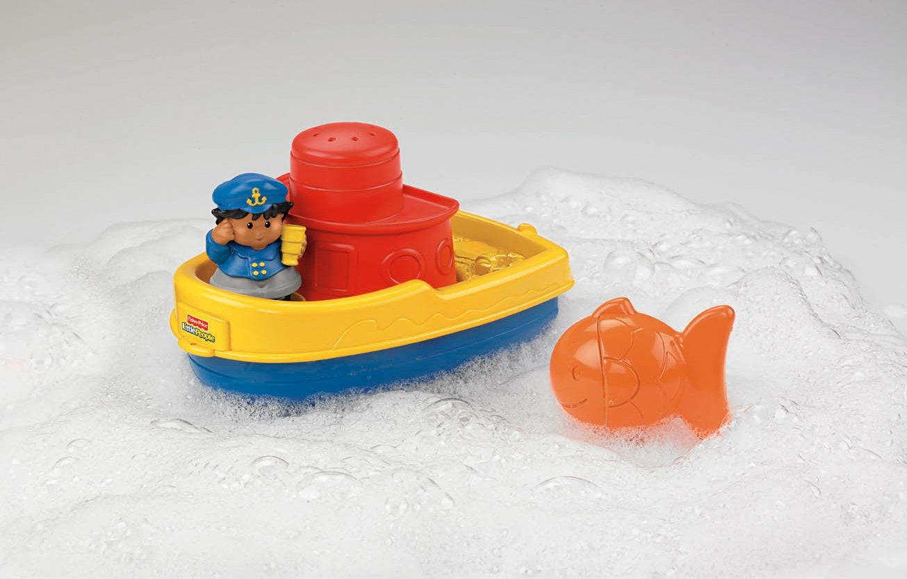 Amazon.com: Fisher-Price Little People Play \'n Float Bath Boat: Toys ...