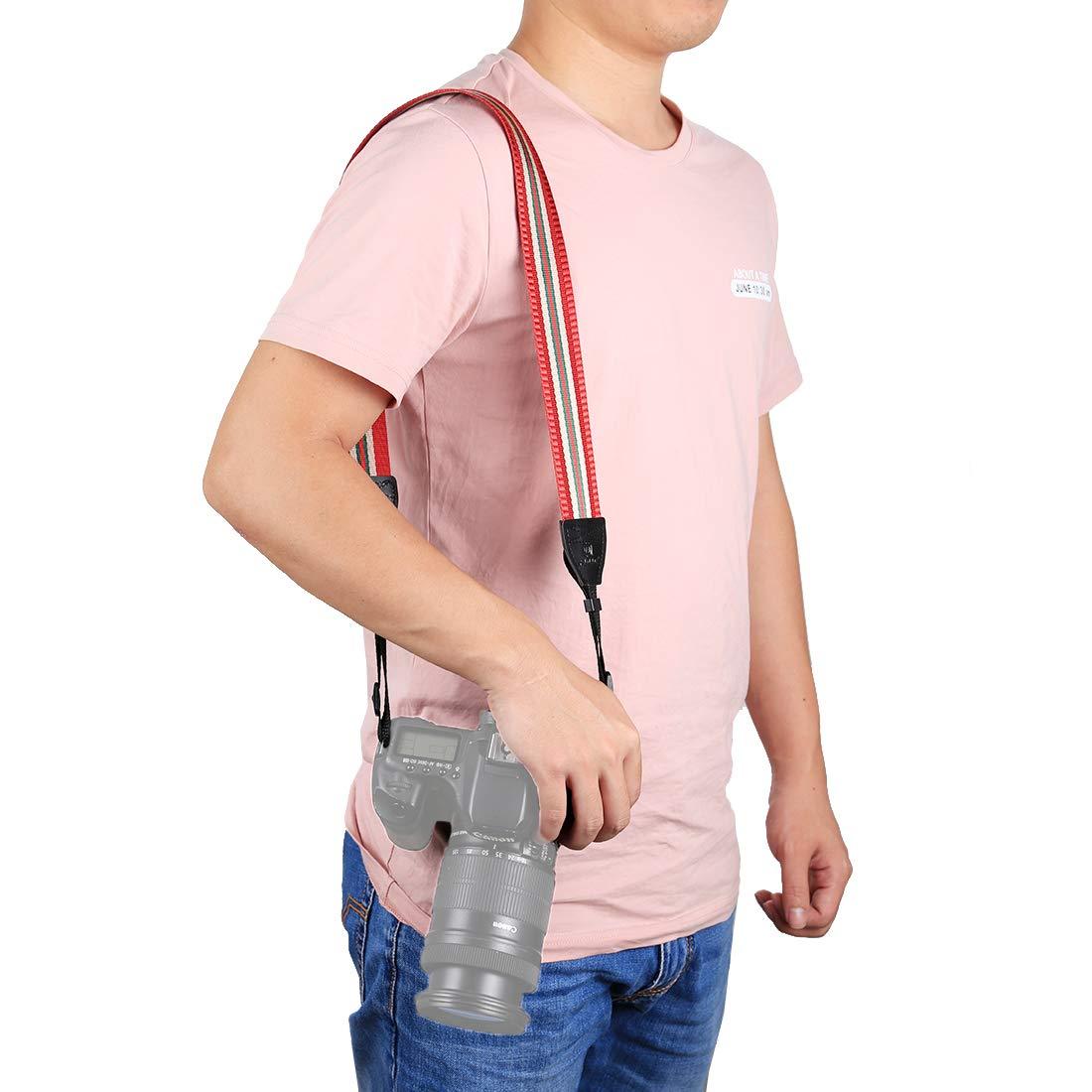 BYbrutek Kameragurt für DSLRs, Weich Kamera Schultergurt (universal passend), 150cm Long, 3.8cm Wide (6010R)