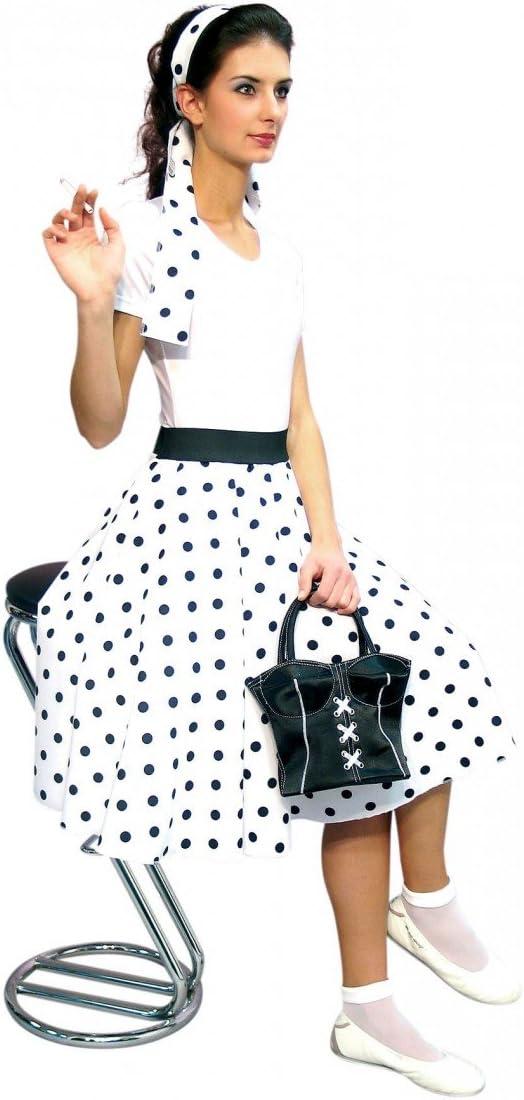 Falda blanca con lunares negros. Tamaño: 44/46: Amazon.es ...