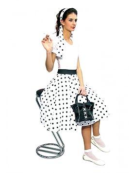 Falda blanca con lunares negros. Tamaño: 40/42: Amazon.es ...