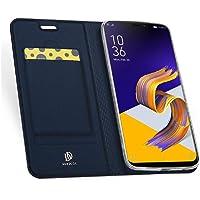 Capa para Zenfone 5 (2018), DUX DUCIS Flip [Couro PU][Fina][Suporte TPU][Cartão Crédito], Asus Zenfone 5 (2018) (ZE620KL) - Azul