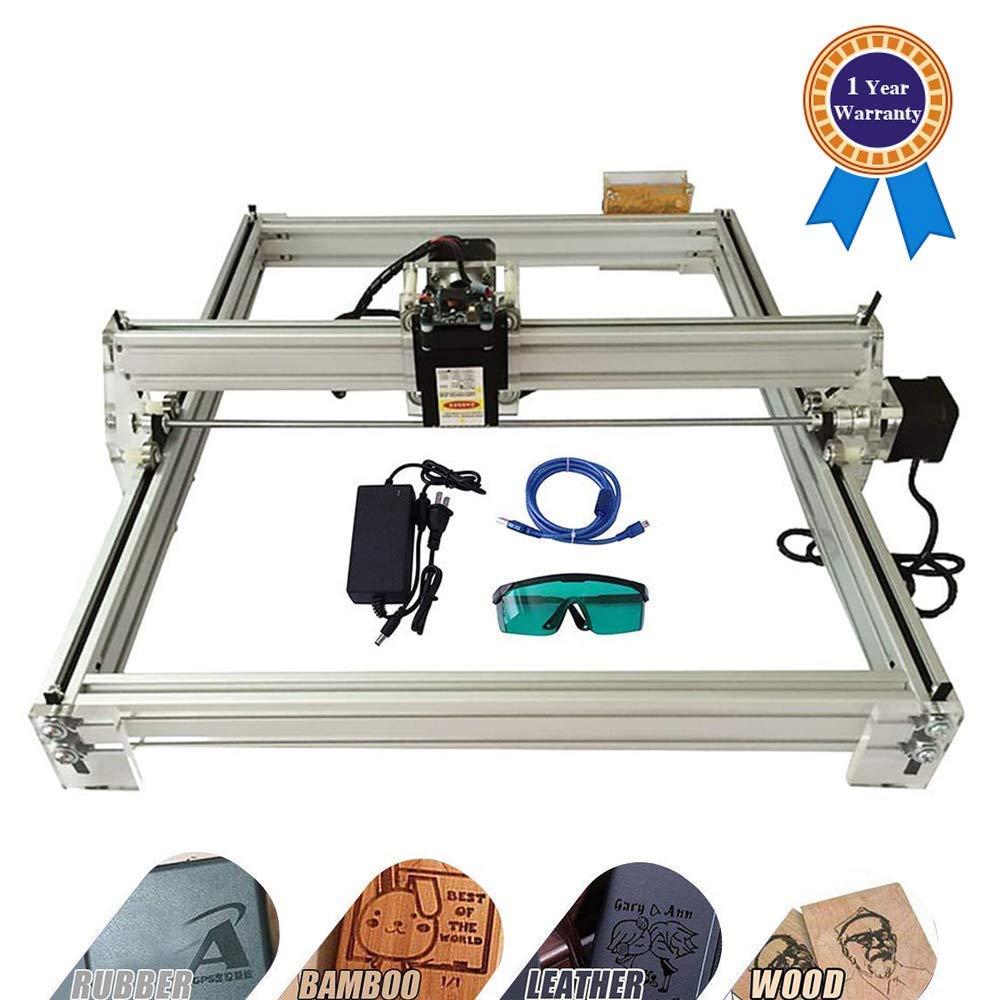 HUKOER 40X50CM Kits de gravure au laser bricolage CNC 12V USB Machine de gravure au laser de bureau, imprimante laser ajustable Puissance découpant et découpant chapitre en caoutchouc (2500MW) product image