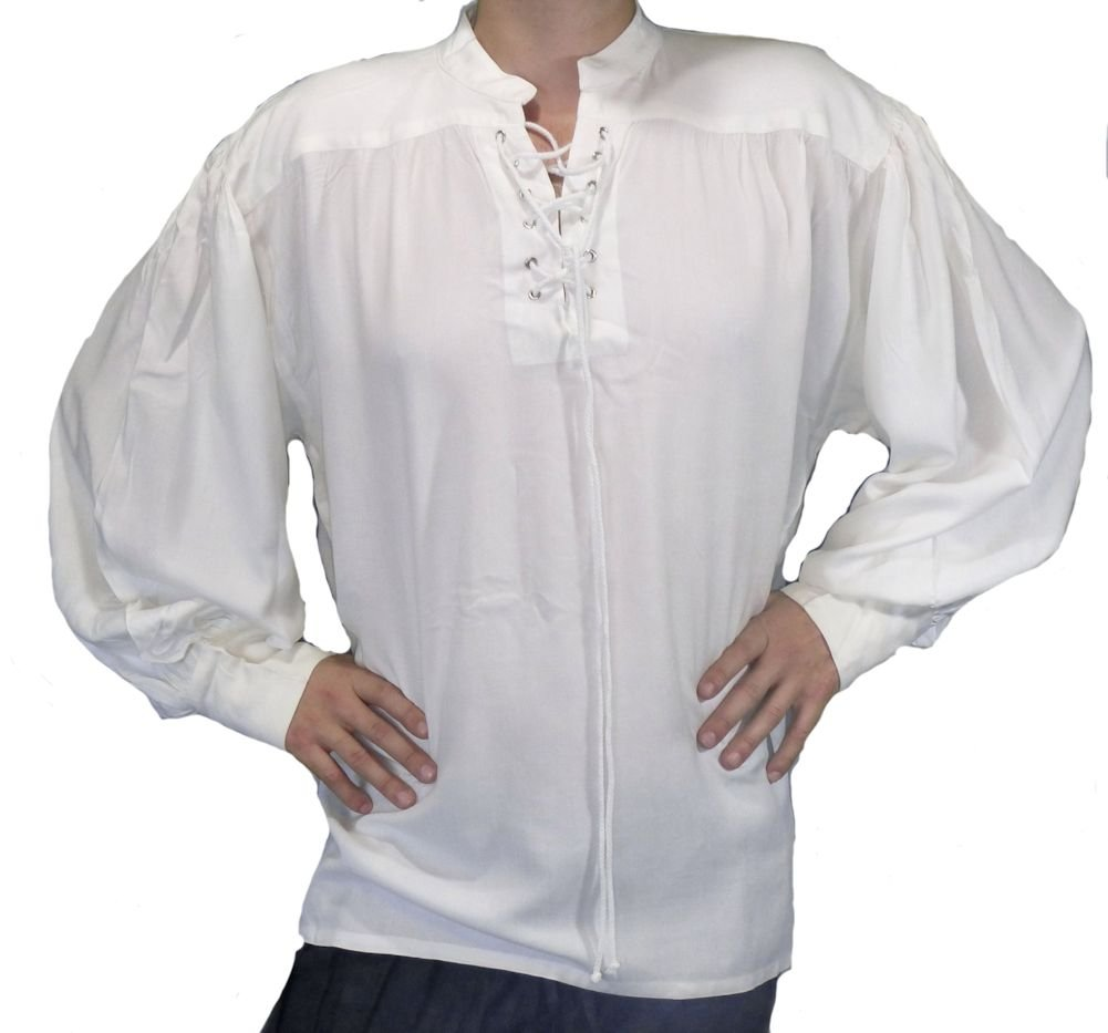 The Pirate Dressing Captain Quincy Pirate Shirt - Color White - Size Large