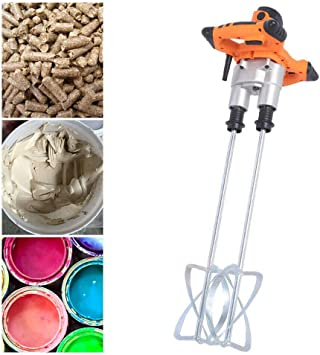 1600W Plaster Mixer Single Paddle Stirrer Powerful Fit For Paint Cement Tool Kit