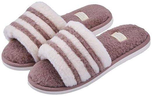 Nikai Zapatillas calefactadas para Mujer, Simple Open Stripe ...