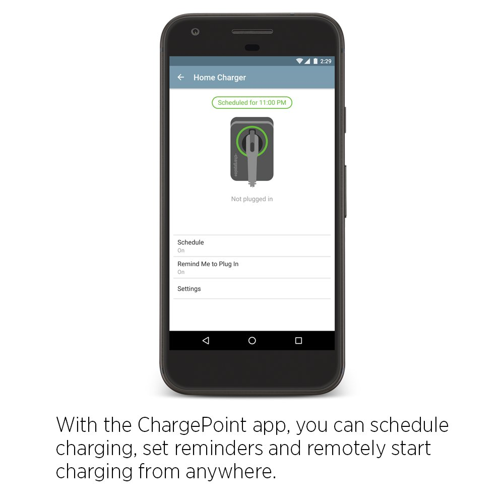 Chargepoint Home Wifi Enabled Electric Vehicle Ev Homeline 50amp 2pole Gfci Circuit Breaker Plugin Walmartcom Charger Level 2 Evse 240 Volt 32 Amp Car Ul Listed