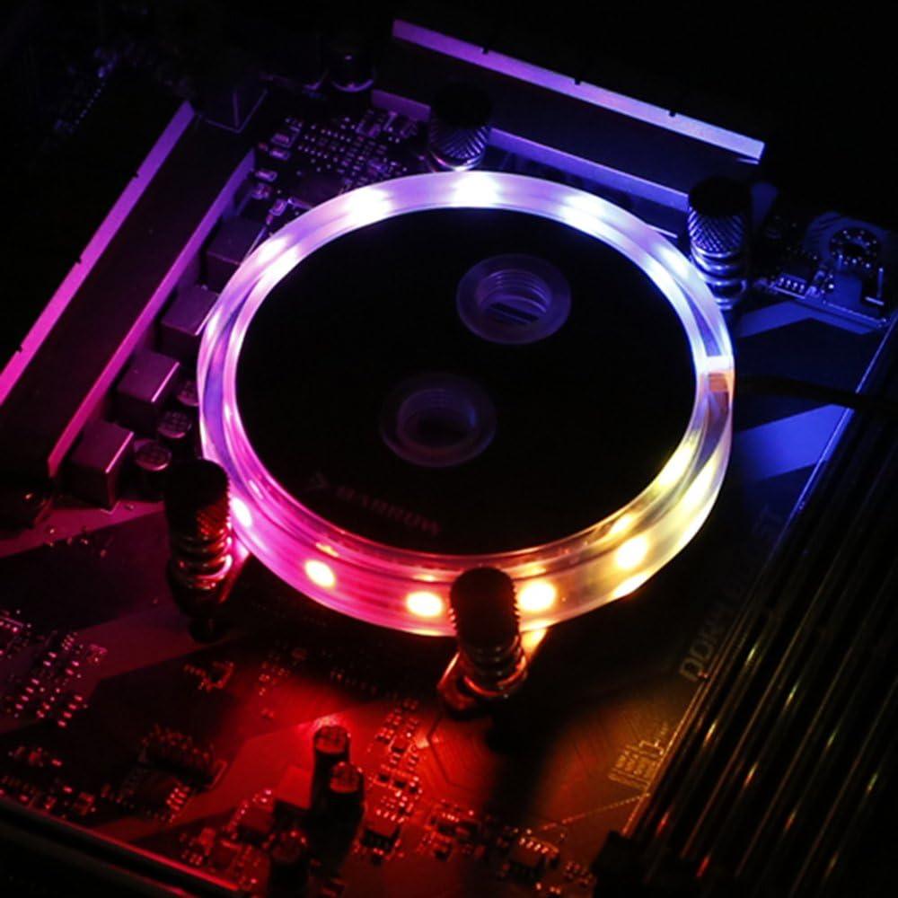 Barrow Jet Type Slim RGB CPU Water Cooling Block for Intel Socket LGA115X X99 X299 AMD AM1 AM2 AM3 AM4 (AMD)