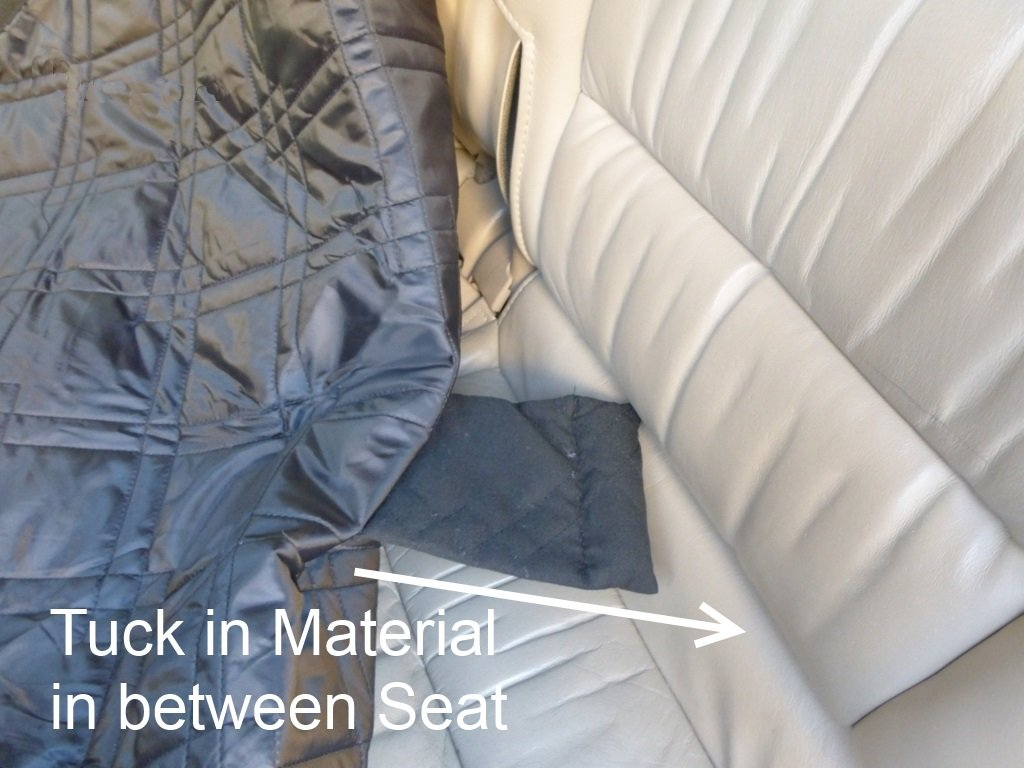 Formosa Covers Deluxe Quilted and Padded Dog Car Back Seat Cover with Non-Slip Back Best for Car Truck and SUV - Travel With Your Pet Mess Free - Universal Fit 56''x94'', Black by Formosa Covers (Image #6)