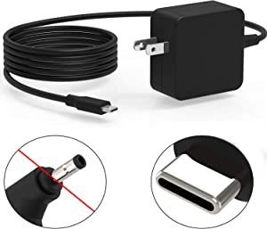 65W USB-C AC Charger Fit for Lenovo IdeaPad S540 S940 S540-13API S540-13IML S540-13 S940-14IIL Yoga S940-14IIL S940-14IWL S940-14 Laptop 7.5Ft Type C Cable Power Supply Adapter Cord UL Listed