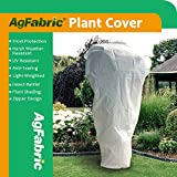 Agfabric Plant Cover Warm Worth Frost Blanket - 0.95 oz Fabric of 108''x 108'' Shrub Jacket, Rectangle Plant Cover with Zipper for Season Extension&Frost Protection