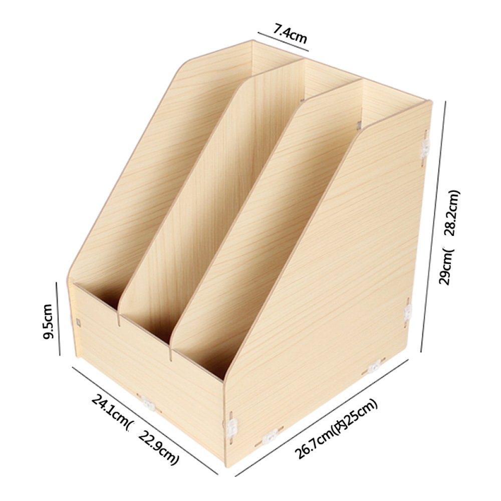 Bookcases LDFN Librería De Almacenamiento Almacenamiento Almacenamiento De Oficina De Madera Estante De Documentos Caja De Almacenamiento De Escritorio Creativa Estante Vertical,WoodColor 53d4b2