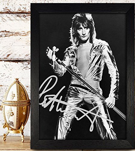 FRAMED Rod Stewart Signed Autographed Photo 4x6 Reprint RP PP - Atlantic (Stewart Hand Signed)