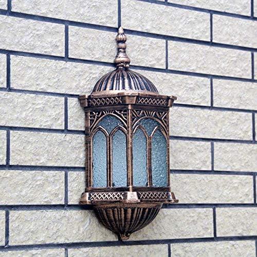 GaoHX Antike Außenleuchte rustikal in Schiffsleuchte, Schiffsleuchte Schiffslampe Antik Bronze Aluguss Außenlampe Wandlampe Schiffslampe für Außen Hof Garten, 1x E27 60W IP44