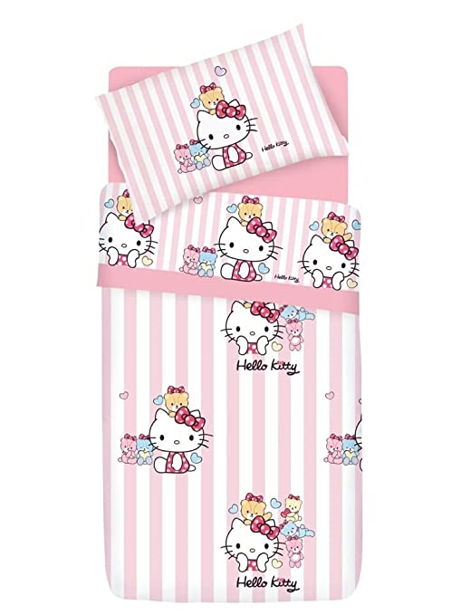 Lenzuola Di Hello Kitty.Hello Kitty Little Friends Completo Copripiumino Lenzuola Federa
