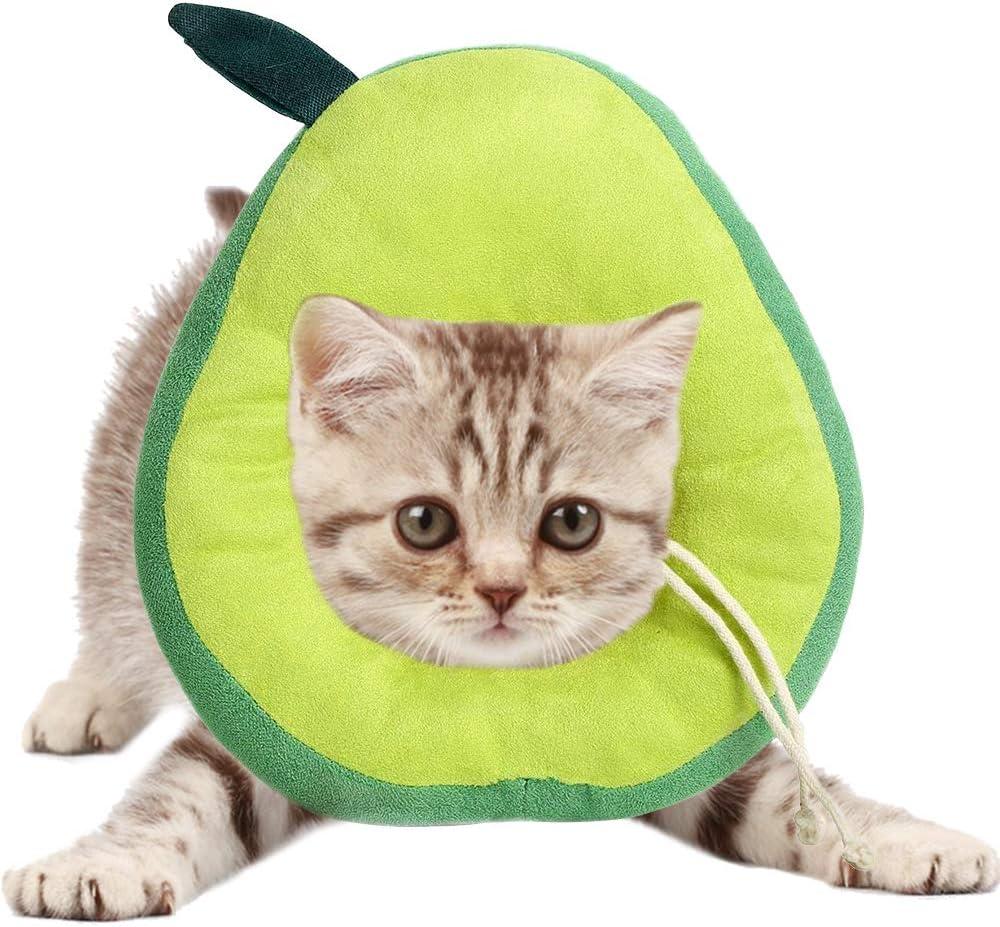 AEITPET Collar isabelino Gato, Collar de recuperación para Mascotas, Collar de protección para Gatos, de Mascota Collar Cono Protector Collares de Suave Ajustable Collar (S, Verde)