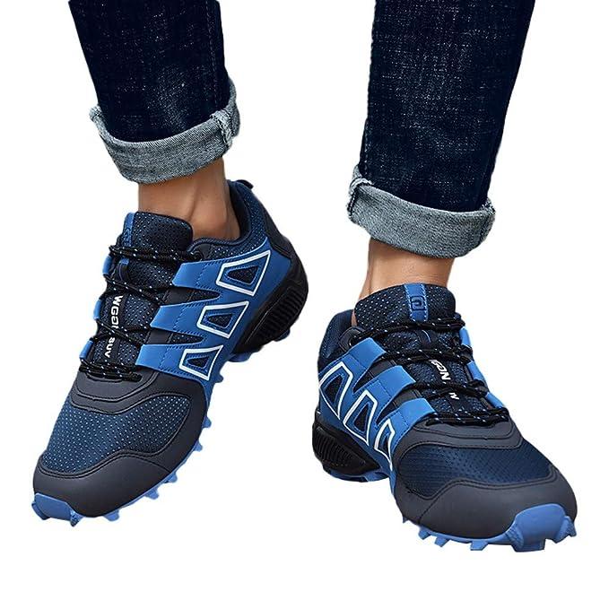 Zapatos de hombre JiaMeng Moda Hombres Zapatillas Estilo Hombres Casual Botas Resistentes al Deslizamiento Senderismo Botas Impermeables Zapatos de Escalada ...