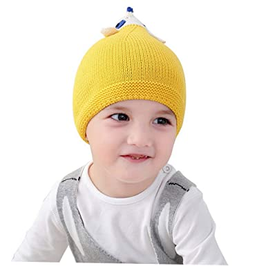ACMEDE Chaud Bonnet pour Enfants Garçon Fille automne hiver, Bébé tricoté  casquette Cartoon Animal Tricot 8a8afab1790