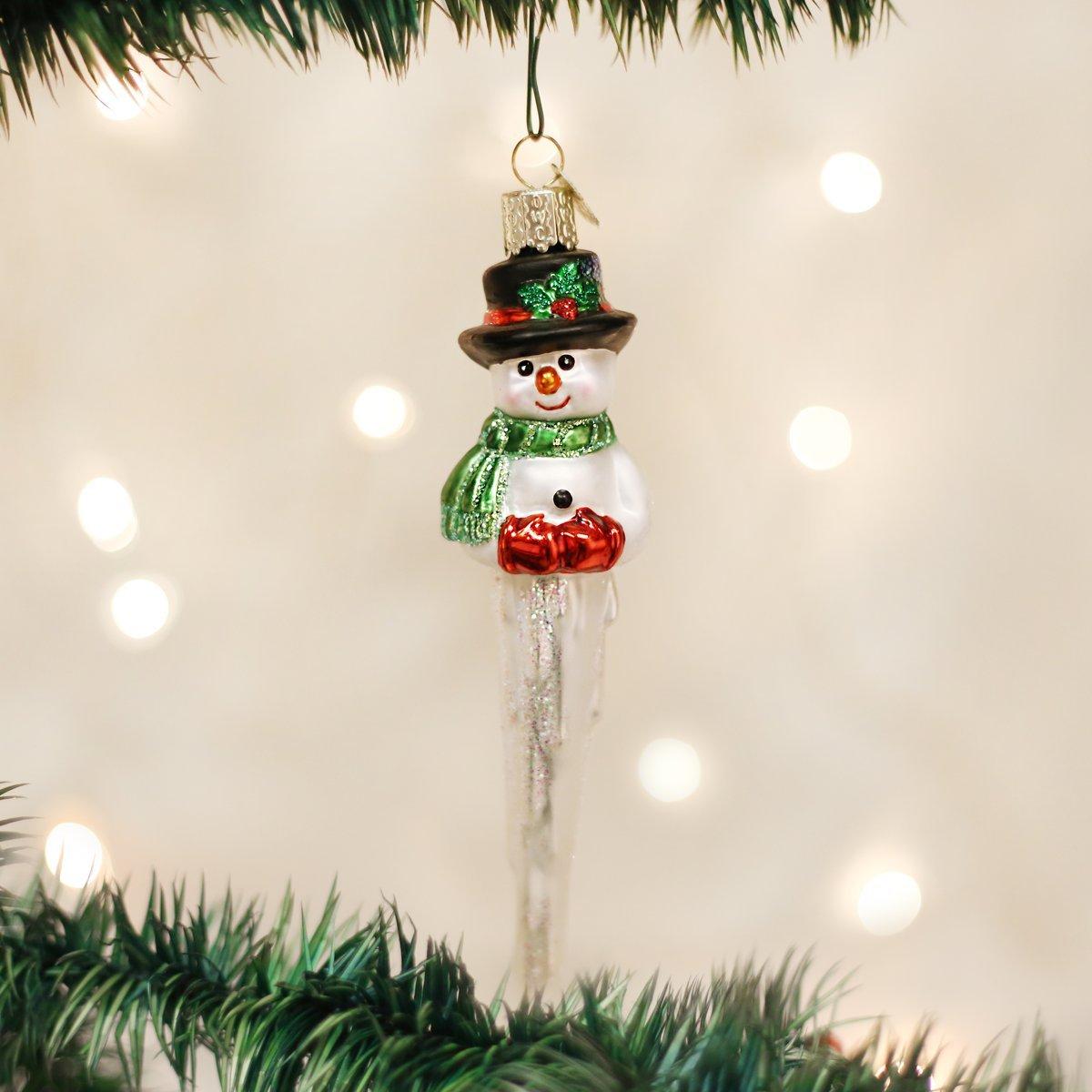 Amazon.com: Old World Christmas Ornaments: Icicle Snowman Glass ...