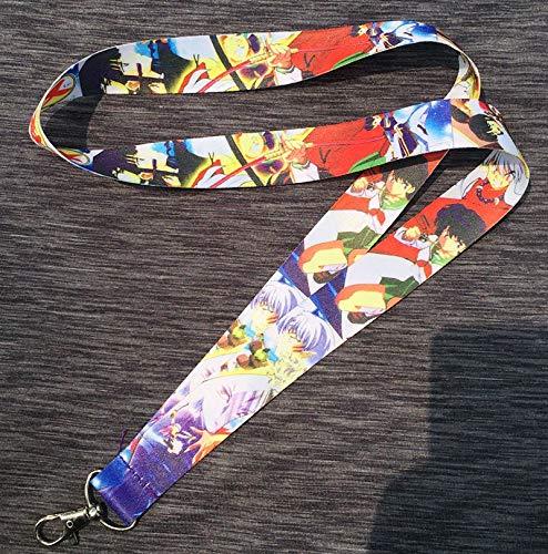 Momoso_Store 1 pc of inuyasha moneca stori lanyard mobile phone charms key chain id badge key chains cosplay gift key ring bt2 (Phone Charm Zelda)
