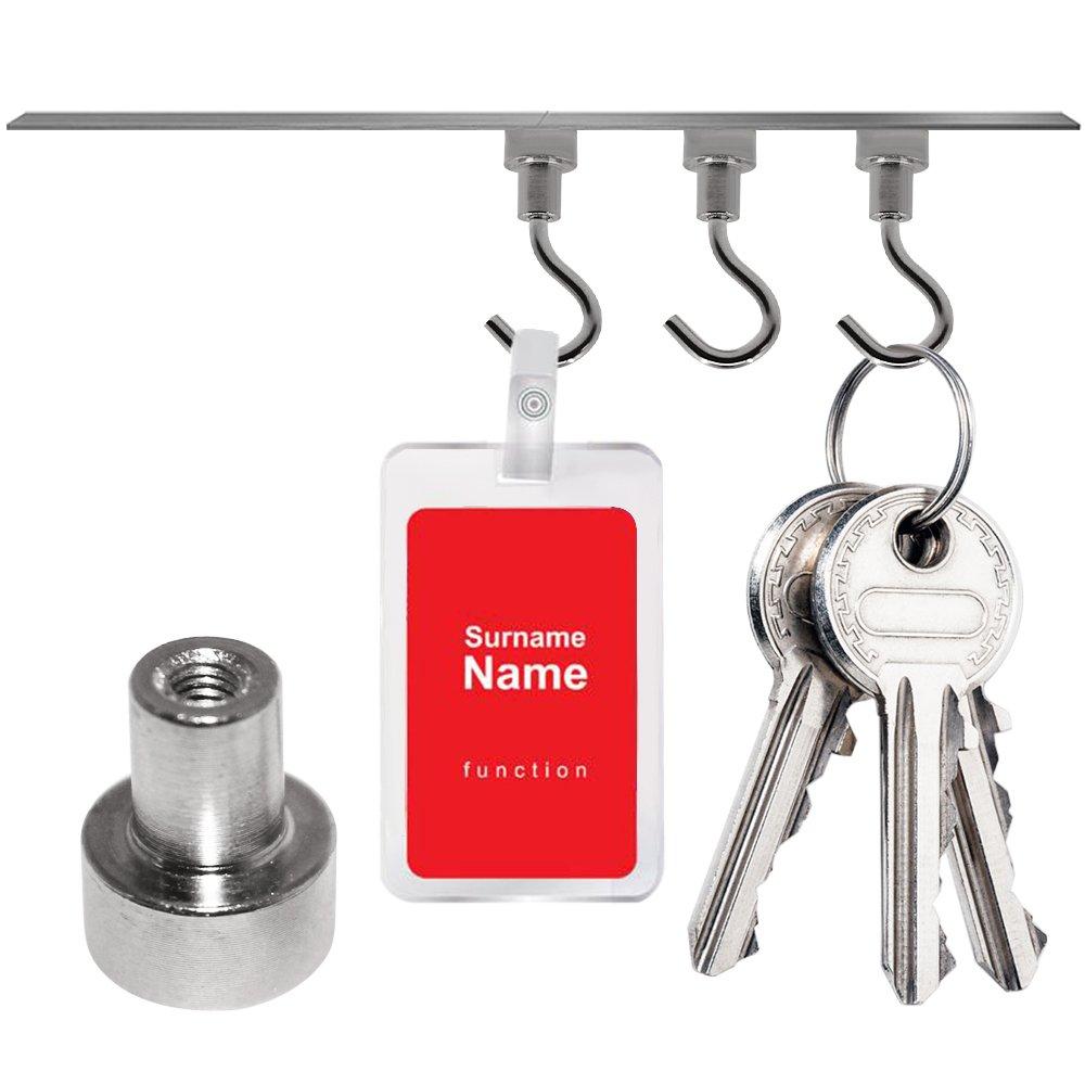 ganchos colgantes resistentes para refrigeradores de cocinas FineGood utensilios para parrillas tensiones verticales de garaje de 40 lb y 3.3 lb 5 piezas Ganchos magn/éticos giratorios