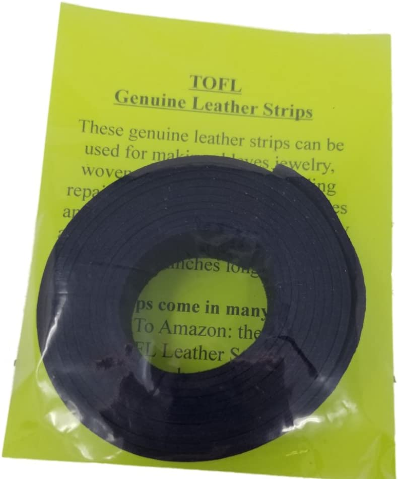 Leather Strips 1 Inch Wide and 4 Ounce Thick 1//16 Inch Thick Midnight Brown