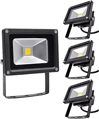 Focos LED Exterior 4X 10W PrimLight Foco Proyector LED Blanco ...