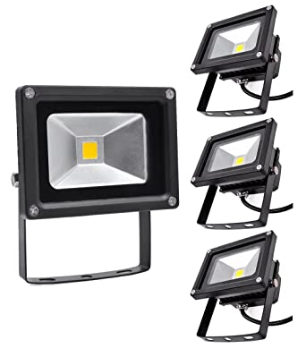 Focos LED Exterior 4X 10W PrimLight Foco Proyector LED Blanco ...