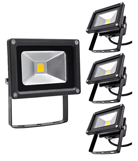 Focos LED Exterior 4X 10W PrimLight Foco Proyector LED ...