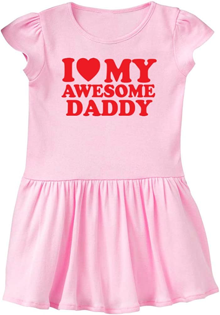 Red Heart Mashed Clothing Daddy Gift Fathers Day Baby Infant Dress My Awesome Daddy I Love