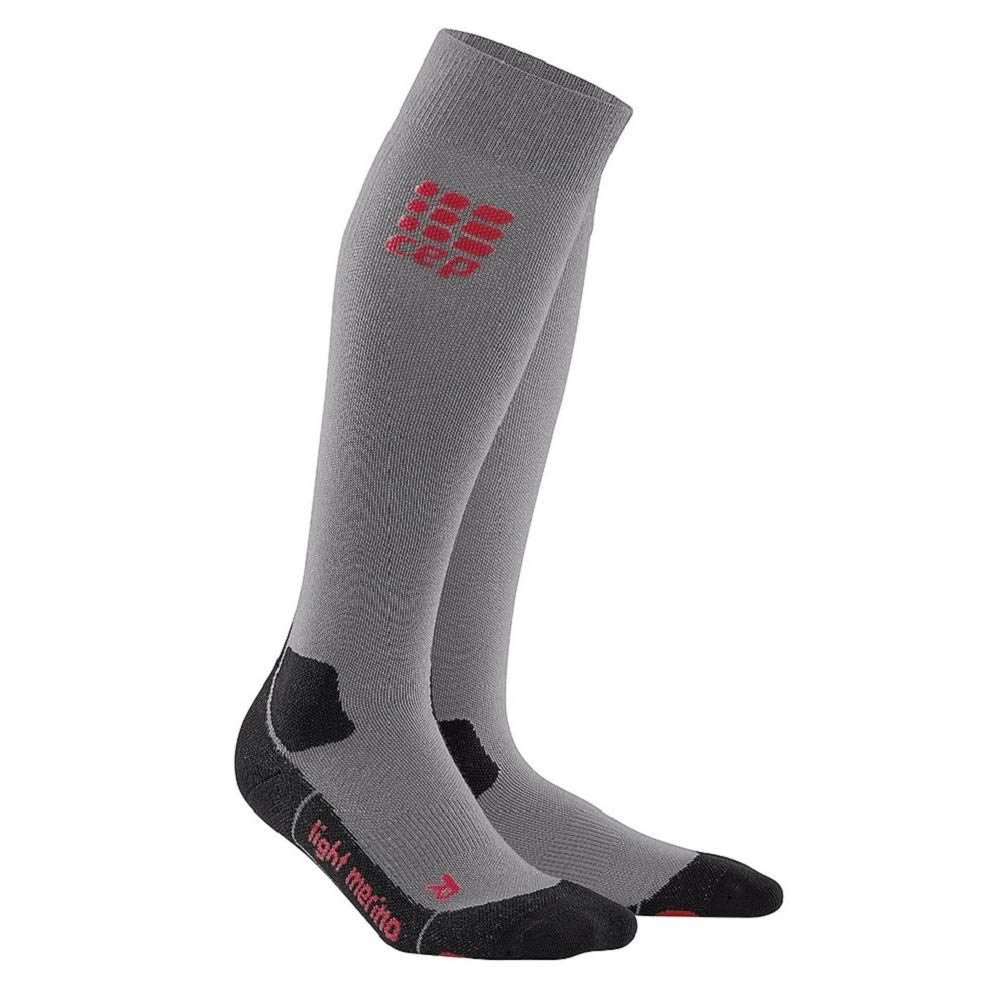 CEP Womens Long Compression Wool Hiking Sock Light Merino (Volcanic Dust) 2 by CEP