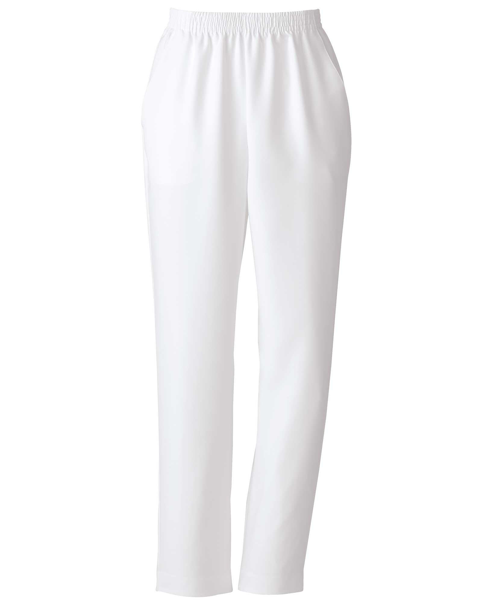 Donnkenny Elastic-Waist Gabardine Pull-On Pants, White, 18 Petite
