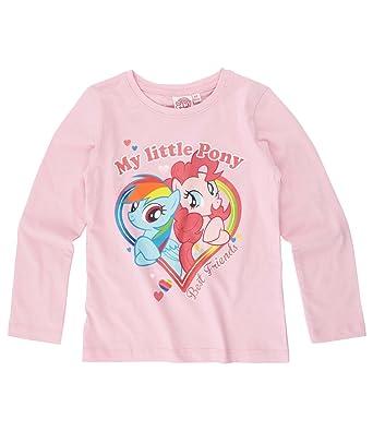 d42a1a2c475 My Little Pony Girls Long Sleeve T-Shirt - fuchsia - 4 yrs  Amazon.co.uk   Clothing