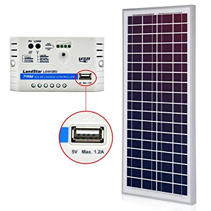 ACOPOWER 35 Watt Solar Panel Kit, Build Your Solar Charger in One Stop (10A  35W Kit)