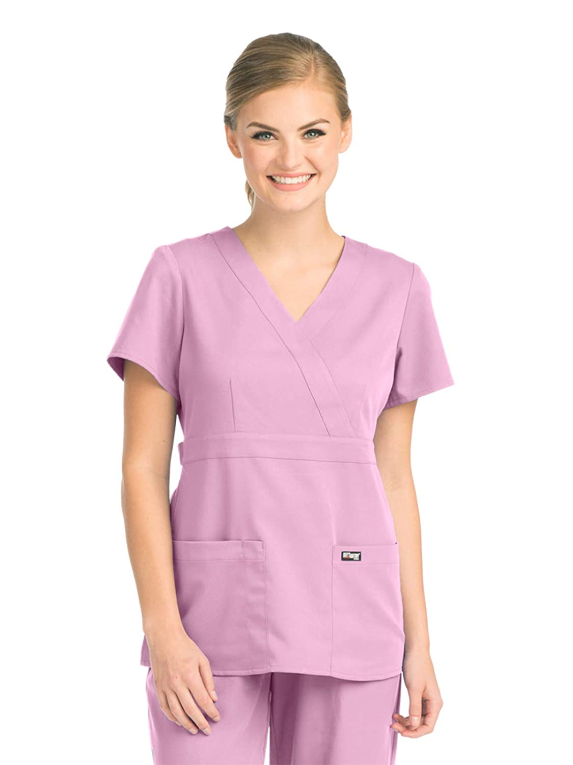 Barco Grey's Anatomy 4153 Women's Mock Wrap Scrub Top