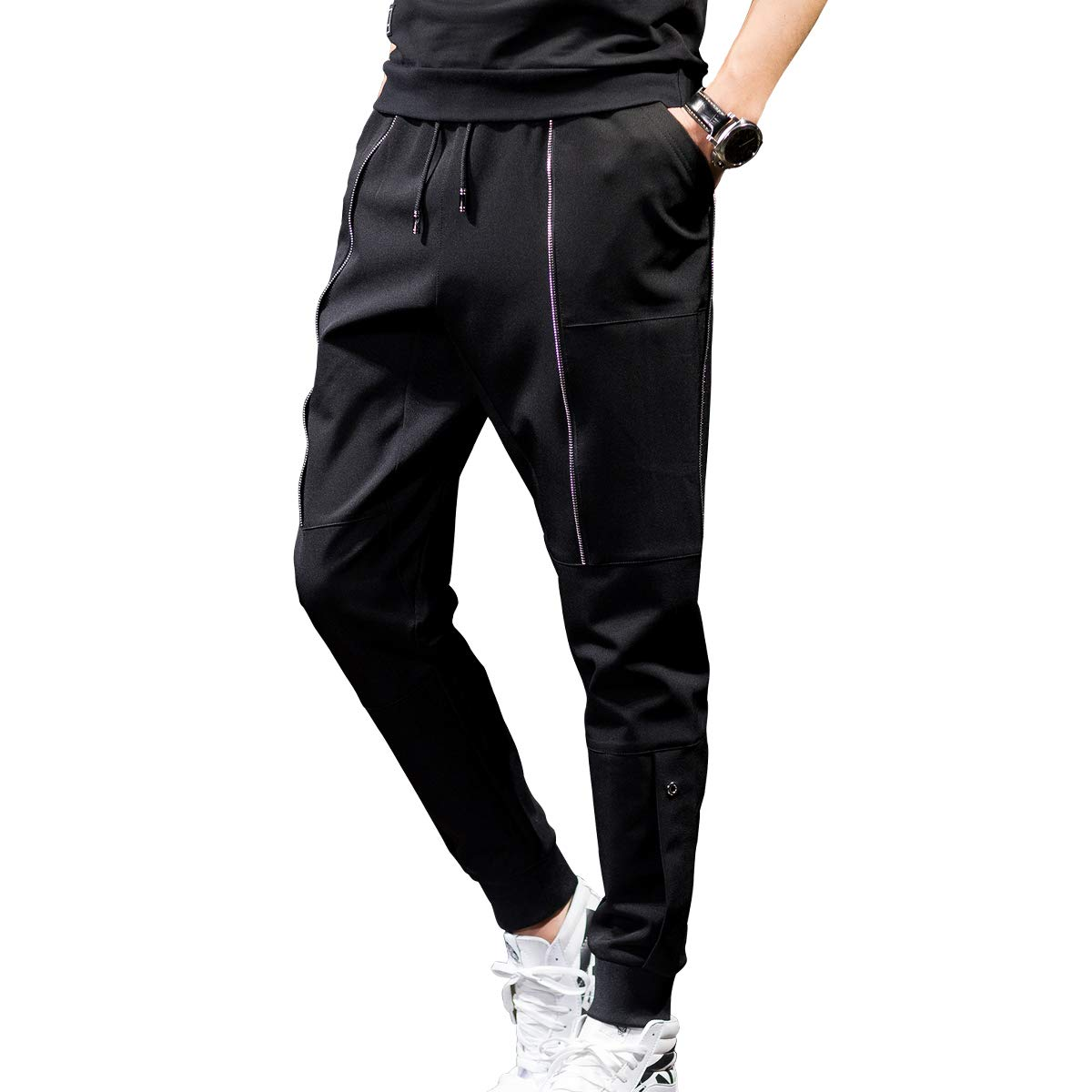 CNMUDONSI Youth Boys Pants Loose Fit Relaxed Adjustable Waist Elastic Size 12 14 16 18 20