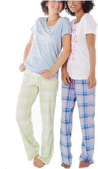 Damen Pyjama Schlafanzug Baumwolle Kurzarm SUN9