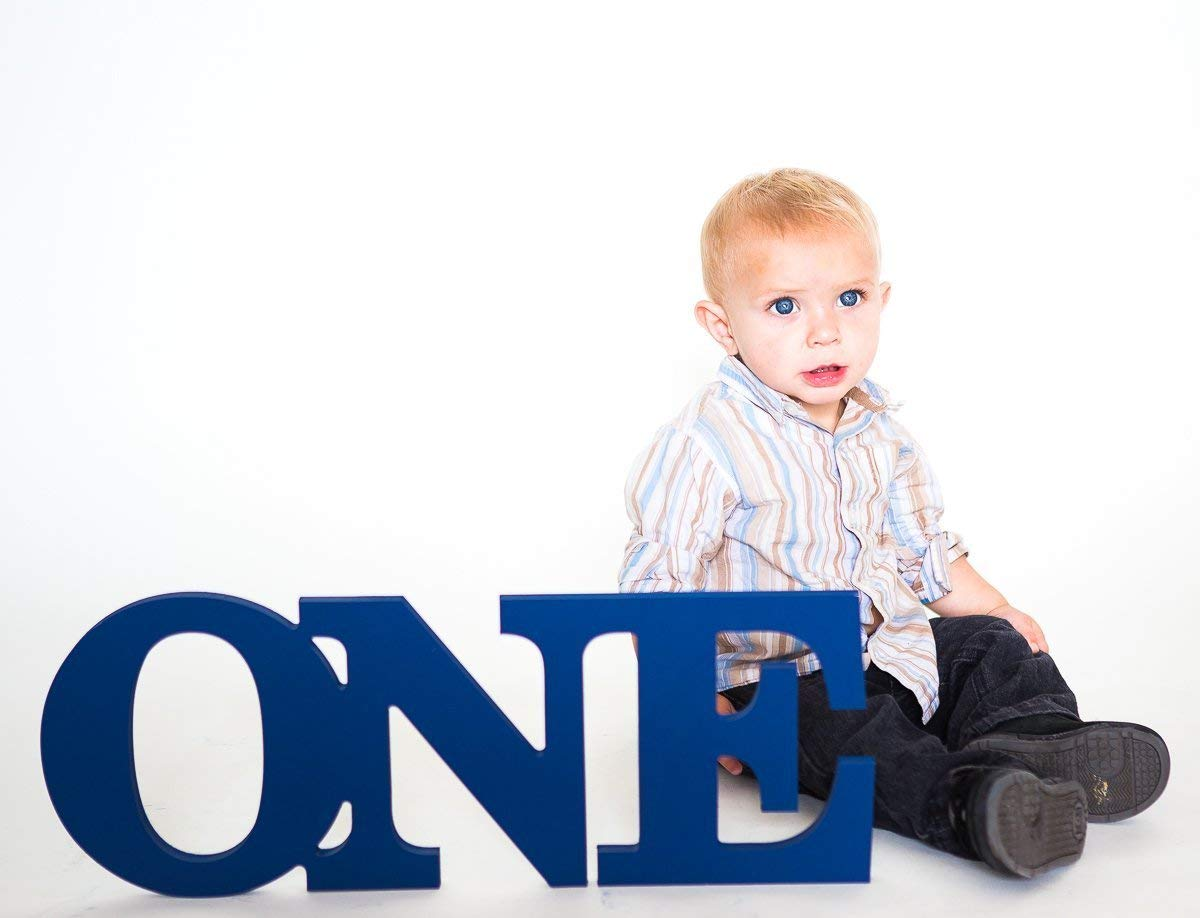 ONE Sign Baby Photo Prop - 1st Birthday ONE, First Birthday Prop - Baby Birthday Party Decor