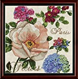 Design Works Crafts 2848 Paris Fleurs Counted Cross Stitch Kit, 10 by 10''