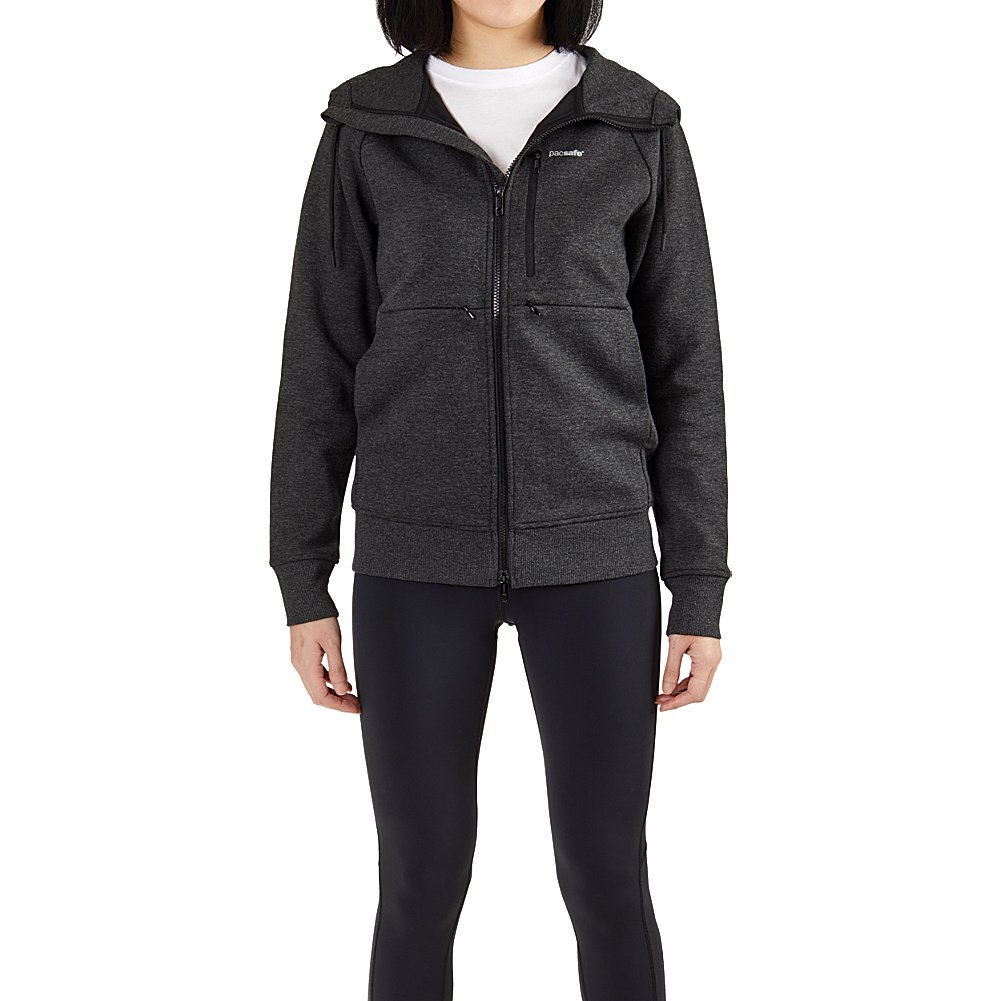 Pacsafe Womens Transit RFID Travel Hoodie (S - Charcoal)