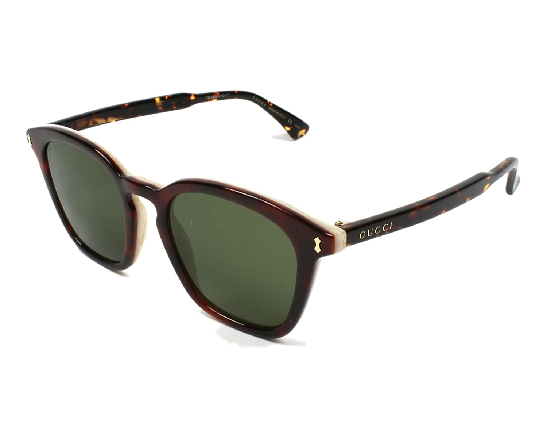 7416bc3a7f Amazon.com  Sunglasses Gucci GG 0125 S- 003 003 AVANA   GREEN   AVANA   Clothing